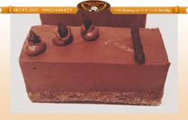 Mousse dark choco oreo 25x25cm