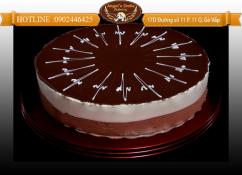 Mousse dark&white chocolate 18cm